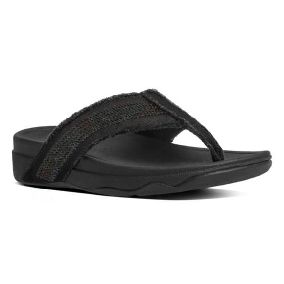 5644ef1e312a8 Fitflop Shoes - Fit Flop Black Surfa Sequin Sandal